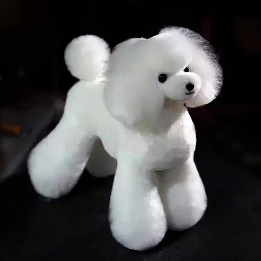High-Density Toy Poodle Whole Body Dog Wig - White