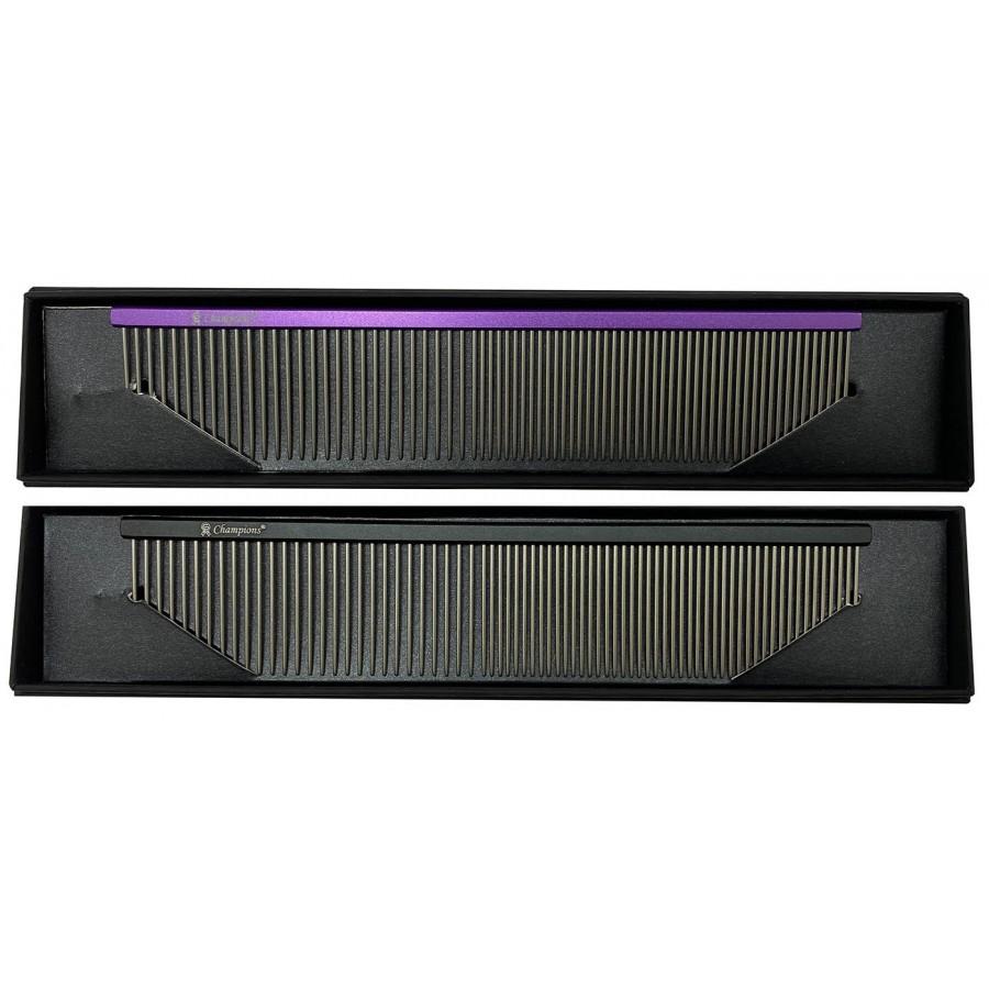 PRÉMIUM 'SUPER LIGHT' ALU FÉSŰ 50/50 fogsűrűség, szögletes profil, hossz 18,7 cm, foghosszúság 3,5 cm