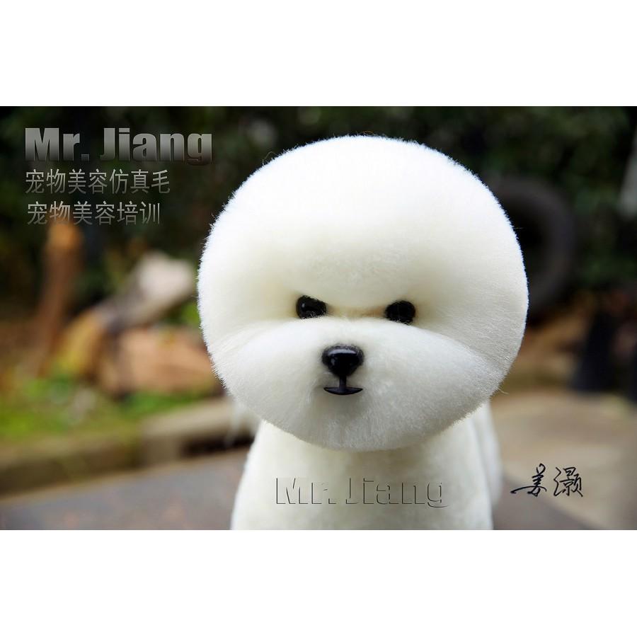 Bichon Model Dog Head Wig