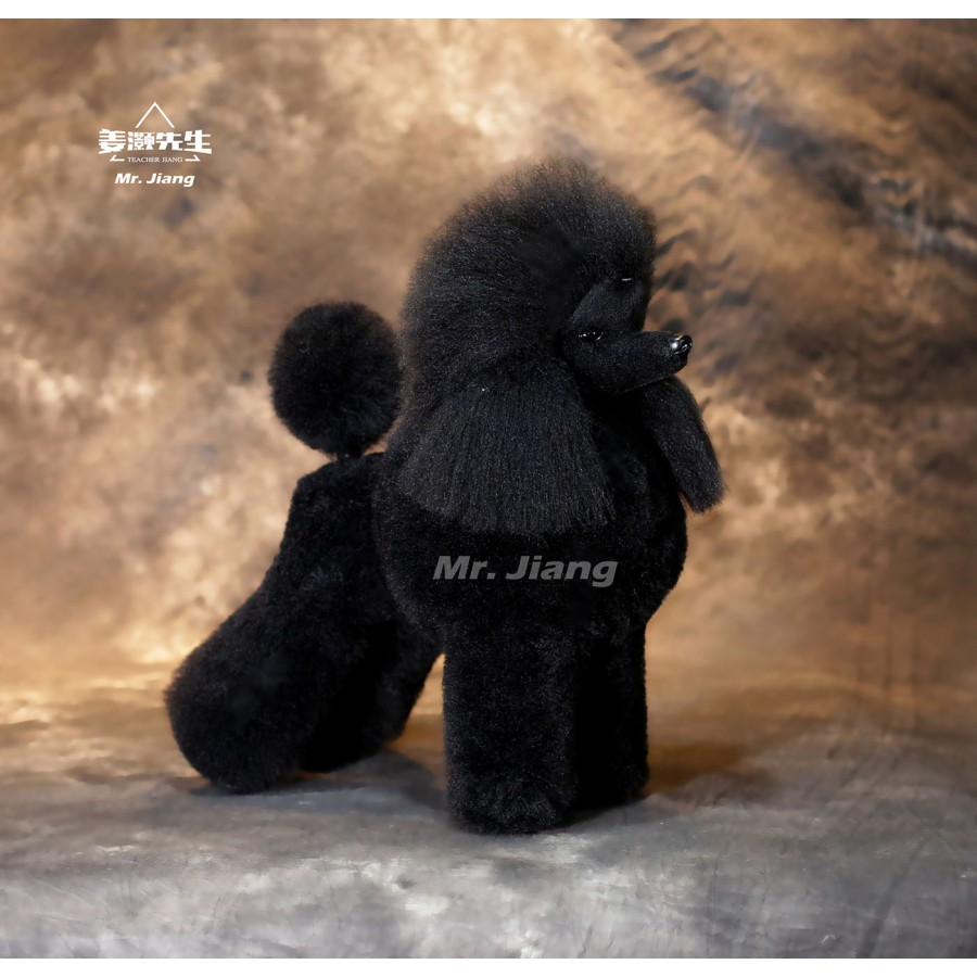 Poodle Modern Model Dog | Whole Body Dog Wig - Black