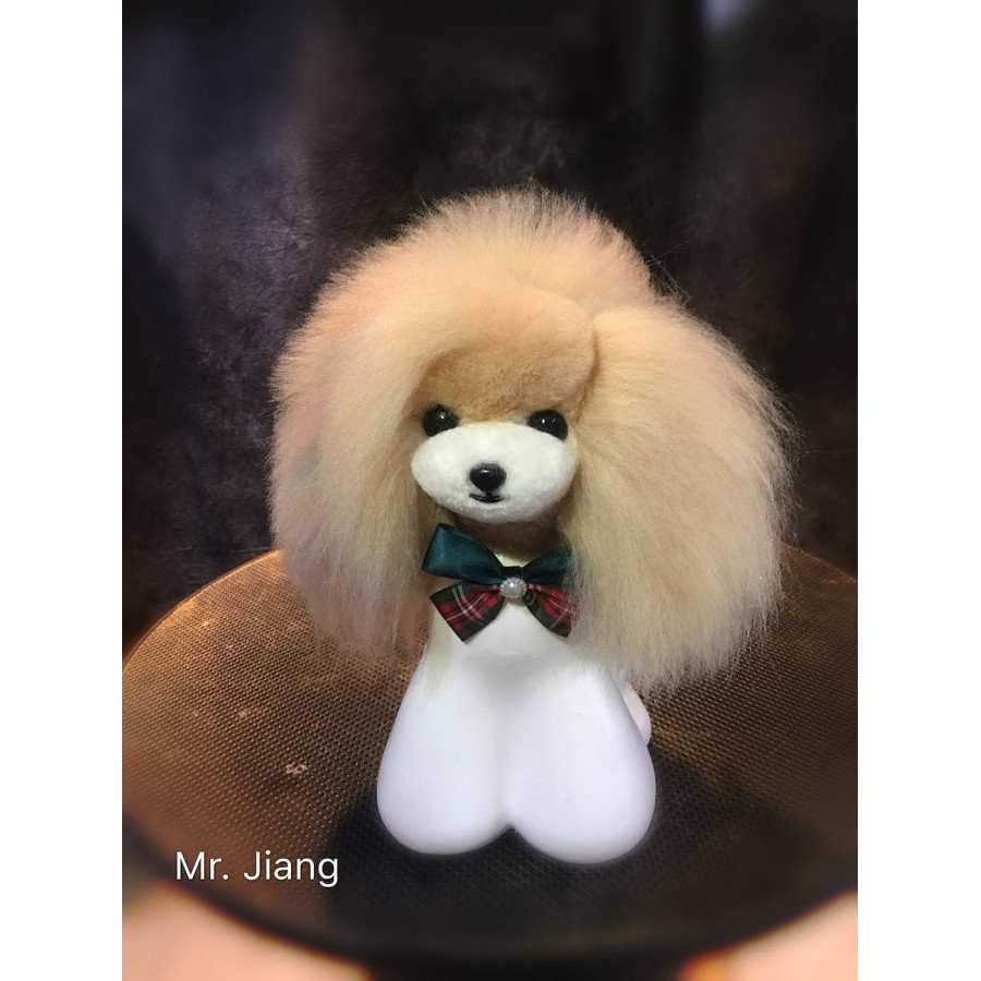 Teddy Model Dog Head Wig - Apricot
